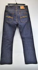 NUDIE JEANS CO. Men's Dark Wash Button Fly Jeans 30x30   (D2)