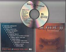 Blade 2 OST US 13-track promo test CD Cypress Hill Redman Massive Attack Mos Def