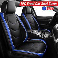 Universal Blue Nero Auto Anteriore Pelle Coprisedili Fodere Foderine Per Fiat