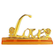 24k Gold Plated Rose Certificate LOVE Base Christmas Valentine Gift Souvenir
