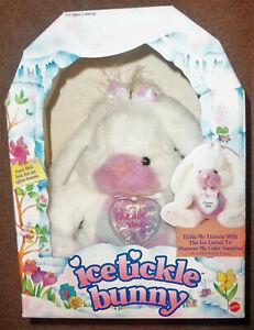 1993 Vintage MINT MIB Mattel Ice Tickle Bunny NIB w/ I LOVE YOU heart Locket