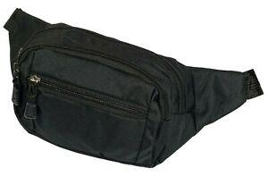 Waist Fanny Pack Adjustable Belt Bag Men Women Pouch Travel NEW BLACK