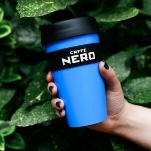 Caffe Nero Keep Cup 454ml / 16oz Large Grande Reusable Coffee Travel Mug Blue