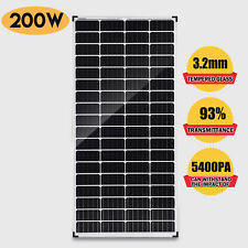 12V Solar Panel 200W Monocrystalline Caravan Boat Camping Battery Power Charge