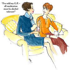 La1 Lizzie Huxtable amico;; salute; divertente; moglie; sorella; blu/arancio; ogni occasione