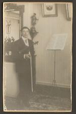 PHOTO VIOLONISTE VIOLON STUDIO PHOTOGRAPHE PENSUET MEUNG-SUR-LOIRE 1913