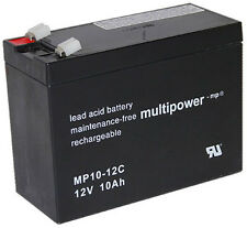 1 Multipower Blei Akku Zyklenfest Pb / 12V / 10Ah / Faston 6,3 mm Typ: MP10-12C