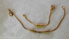 Adjustable Necklace Extenders Goldtone gold Total of 2 extender New