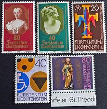 LIECHTENSTEIN - timbre/stamp Yvert et Tellier n°682-683-714-715-716 n** (cyn5)