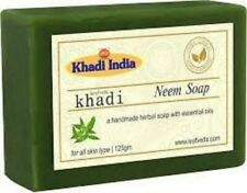 Pure Neem Soap Of Khadi Handmade, Herbal & With Essential Oils (125 gm) - 2 Pack