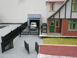 3D Printed OO GAUGE 1/76th Scale Metal Gates + Railings for model railway