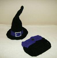 Newborn Baby Warlock Hat and Diaper Cover-Hand Crochet-Photo Prop