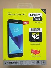 Straight Talk Samsung Galaxy J7 Sky Pro 16GB Prepaid Smartphone Black -Brand New