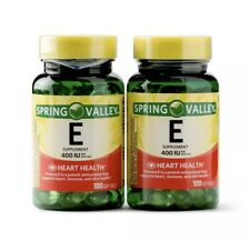 New Spring Valley Vitamin E Supplement 400IU 200 Softgel Capsule Twin Pack