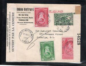Haiti - censored cover - Type S4a Haiti censor stamp