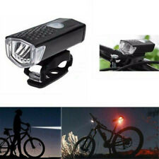 Usb Rechargeable Bike Headlight Led Bicycle Front Head Lamp & Rear Tail Light
