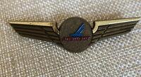 Vintage Plastic 1960s 1970s Piedmont Airlines Captain Pilots Wings Pin New NOS
