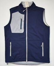 $165 New PETER MILLAR CROWN SPORT Navy Stretch Soft Shell VEST Jacket S