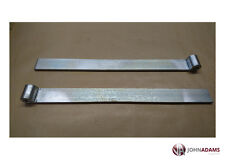 """2 x Trailer Straight Hinge 18"""" Bolt on Weld On Strap For Gudgeon Pin Zinc Plated"""