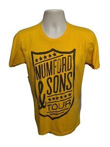 Mumford & Sons Tour Adult Small Yellow TShirt