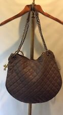 Paul & Joe Sister Taupe LEIGHTON Quilted Lamb Leather Bag Chain Shoulder Tote