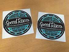 2x Speed pegatinas Racer Race motocicleta bike Custom de carreras salt lake Flat m013