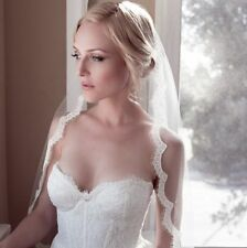 New retro eyelash lace bride wedding veil long tail soft head veils headdress