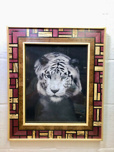 11X14 HAND CRAFTED EXOTIC WOOD PICTURE FRAME- AFRICAN TEAK,PURPLE HEART,EBONY