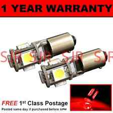 BAX9s H6W 434 CANBUS ERROR FREE RED 5 LED SIDELIGHT SIDE LIGHT BULBS X2 SL101501