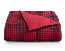 Martha Stewart Red/Black Plaid Reversible Comforter King Size