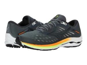 New Men's Mizuno Wave Rider 24 Running Shoes Size 9-12 Castlerock/Phantom 411224