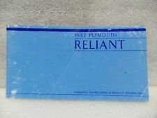 RELIANT   1982 Owners Manual 16569