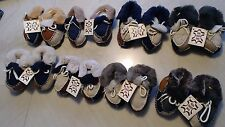 NWT SIZE 12 - 18 MONTHS BABY BOY REAL SHEEP SKIN FUR & SUEDE WINTER BOOTIES