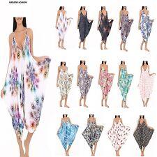 Womens Ladies Cami Jumpsuit Sleeveless Legenlook Romper Baggy Playsuit One Size
