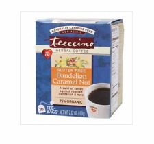 3 x 10 tea bags TEECCINO Herbal Coffee Bags Dandelion Caramel Nut  ( 30 bags )