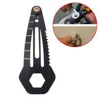 Multifunction women self-protect hairpin outdoor pocket tool screwdriver keyr SO