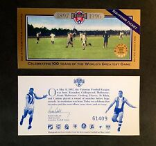 1996 AFL CENTENARY SOUVENIR GAME TICKET COLL-WOOD V ST KILDA MAY 10