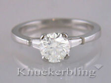 White Gold Excellent VS2 Solitaire with Accents Fine Diamond Rings