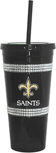 New Orleans Saints 22oz Double Bling with Straw Tumbler - NFL