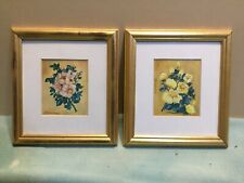 J Manning Pair Of Floral Oil Painting