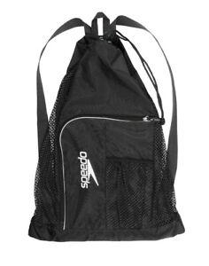 "Speedo Deluxe Ventilator Mesh Swim Bag - Black, 24 x 17"""