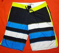 Billabong Platinum PX3 Men's 34 Board Surf Shorts Black and Blue RN# 99064