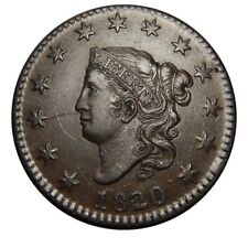 Large cent/penny 1820/19 small overdate mint state WOW