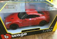 BURAGO 21082R 21082W NISSAN R35 GTR 2017 model cars red or white 1:24th scale