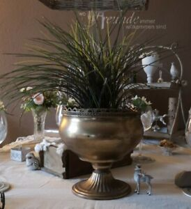Trophy Amphora Vase Metal Gold Patina Shabby Vintage Nostalgia Deco 9 13/16in