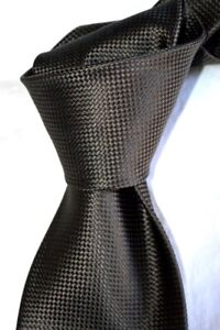 """$250 NWT TOM FORD Solid BROWN Diamante men's 3.6"""" luxury woven SILK tie ITALY"""