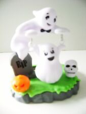 Solar Powered Dancing Baby  Ghost  Swing  w/ Skull & Pumpkin
