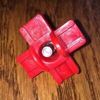 4 Chicken Water Nipples GENUINE Horizontal Side Mount Drink Red Screw In Bucket