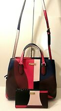 Kate Spade Lot of 2 Saff Leather Tote Crossbody Shoulder Purse Bag & Card Wallet
