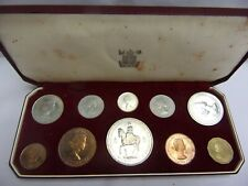 More details for 1953 proof set of 10 coins – farthing to crown - reduced